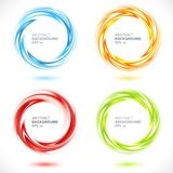 Insieme del fondo luminoso del cerchio astratto di turbinio Immagine Stock Libera da Diritti