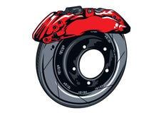 Insieme del freno a disco della parte del motociclo Immagine Stock Libera da Diritti