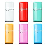 Insieme del frigorifero del frigorifero Vettore isolato sopra Fotografia Stock