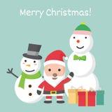 Insieme del fumetto di Natale, illustrazione di vettore Immagini Stock