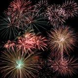 Insieme del fuoco d'artificio Fotografia Stock Libera da Diritti
