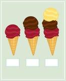 Insieme del gelato Fotografia Stock Libera da Diritti