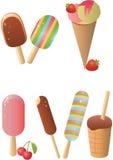 Insieme del gelato Immagini Stock Libere da Diritti