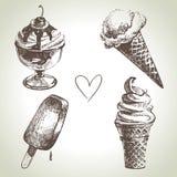 Insieme del gelato Fotografia Stock