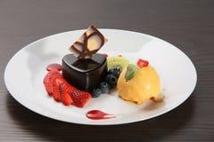 Insieme del gelato del mango Fotografia Stock