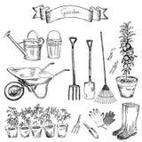Insieme del giardino illustrazione di stock