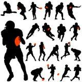 Insieme del giocatore di football americano Immagine Stock