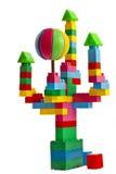 Insieme del giocattolo del castello di fiaba Immagine Stock Libera da Diritti