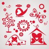 Insieme del giorno di S. Valentino Illustrazione Vettoriale