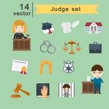 Insieme del giudice Immagini Stock