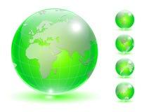 Insieme del globo della terra illustrazione vettoriale