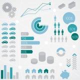 Insieme del grafico di informazioni statistiche di finanza Immagine Stock