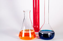 Insieme del laboratorio di chimica fotografia stock