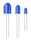 Insieme del LED blu Fotografie Stock Libere da Diritti