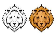 Insieme del leone Fotografia Stock