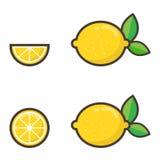 Insieme del limone Fotografie Stock Libere da Diritti