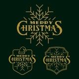 Insieme del logo, degli emblemi e dei distintivi di cristmas Immagine Stock Libera da Diritti