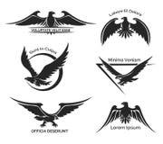 Insieme del logo dell'aquila Fotografia Stock Libera da Diritti