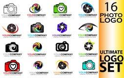 Insieme del logo della macchina fotografica Fotografia Stock Libera da Diritti