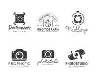 Insieme del logo di fotografia Immagine Stock