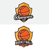 Insieme del logo di pallacanestro, etichetta, distintivo, emblema Immagine Stock