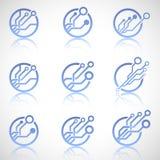 Insieme del logo di tecnologia Fotografie Stock