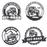 Insieme del logo rotondo dell'automobile fuori strada del suv Fotografia Stock