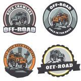 Insieme del logo rotondo dell'automobile fuori strada del suv Immagini Stock Libere da Diritti