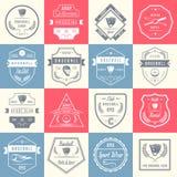 Insieme del logos d'annata e dei distintivi di baseball royalty illustrazione gratis