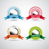 Insieme del logos, delle etichette e degli emblemi del club di golf Immagine Stock Libera da Diritti