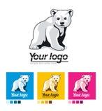 Insieme del logos, progettazione corporativa Orso bianco Immagini Stock