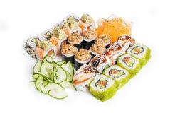 Insieme del maki dei sushi immagini stock libere da diritti