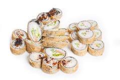 Insieme del maki dei sushi fotografie stock
