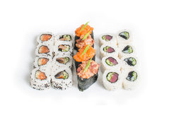 Insieme del maki dei sushi immagine stock