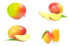 Insieme del mango rosso Fotografia Stock