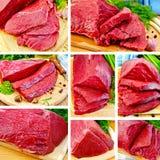 Insieme del manzo della carne Immagine Stock