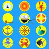Insieme del marinaio, icone 10eps di alta qualità Fotografie Stock Libere da Diritti