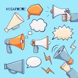 Insieme del megafono illustrazione di stock