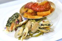 Insieme del menu dei frutti di mare Immagini Stock Libere da Diritti
