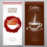 Insieme del menu del caffè Fotografie Stock