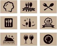 Insieme del menu del ristorante di concetto Fotografia Stock Libera da Diritti