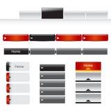 Insieme del menu del Web site immagine stock