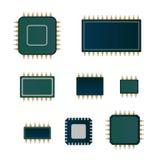 Insieme del microchip Fotografie Stock
