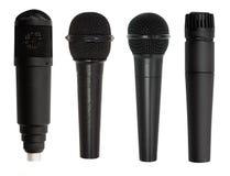 Insieme del microfono isolato Fotografia Stock