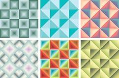 Insieme del modello dei triangoli e dei quadrati Immagini Stock Libere da Diritti