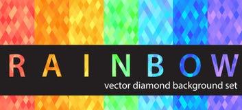 Insieme del modello del diamante illustrazione di stock
