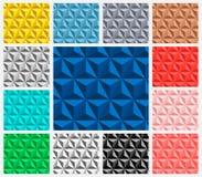 Insieme del modello del triangolo Fotografie Stock Libere da Diritti