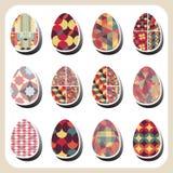 Insieme del modello delle uova di Pasqua retro Immagini Stock