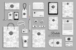 Insieme del modello di identità corporativa Fotografia Stock