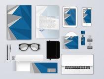 Insieme del modello di identità corporativa Modello della cancelleria di affari per progettazione marcante a caldo Segni la busta Fotografia Stock